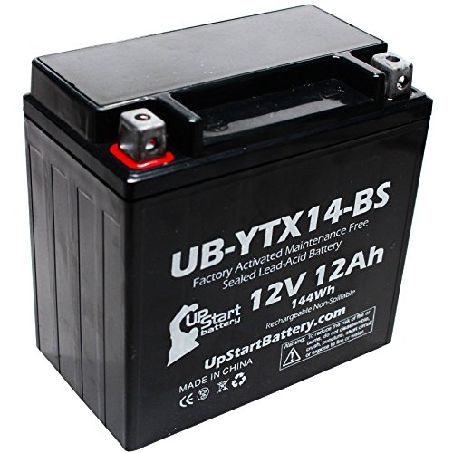 Replacement 2004 Honda TRX450 FourTrax Foreman S ES 450 CC Factory Activated Maintenance Free ATV Battery - 12V 12AH UB-YTX14-BS