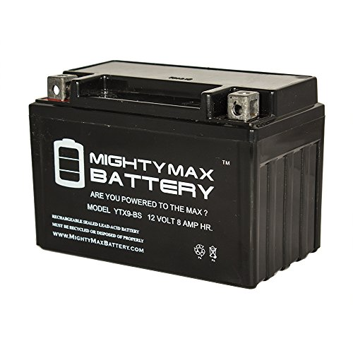 YTX9-BS Battery Replacement for Suzuki LTZ400 QuadSport ATV Battery - Mighty Max Battery brand product