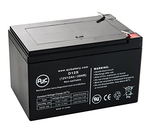 SunL HG-12-12 12V 12Ah Scooter Battery - This is an AJC Brand Replacement