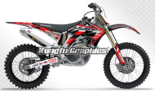 Kungfu Graphics Custom Decal Kit for Honda CRF450R 2005 2006 Red White