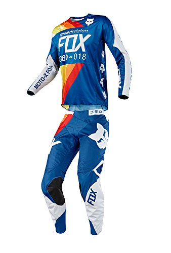 Fox Racing 2018 360 Draftr JerseyPants Adult Mens Combo Offroad MX Gear Motocross Riding Gear Blue