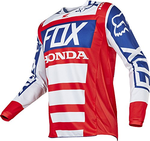 Fox Racing 180 Honda Mens Off-Road Motorcycle Jerseys - RedWhite  Large