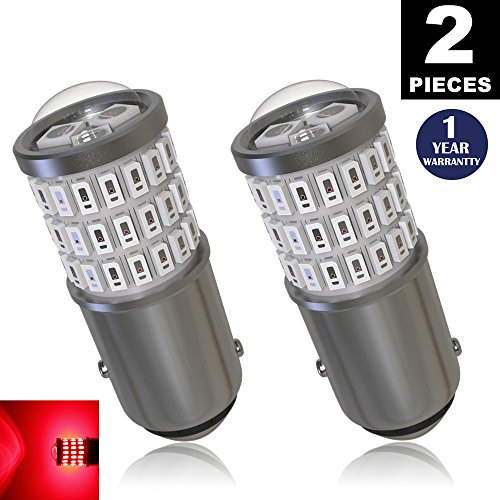 LUYED 2 x Super Bright 9-30v 1157 2057 2357 7528 BAY15D LED Bulbs Used For Tail LightsBrake Lights and Turn Signal LightsRed