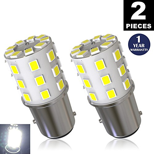 LUYED 2 x 800 Lumens Super Bright 1157 2835 33-EX Chipsets 1157 2057 2357 7528 LED Bulbs Used For Turn Signal LightsTail LightsXenon White