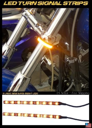 LED 39-43mm Motorcycle Fork Turn SignalRunning Light Kit w Clear Panigale
