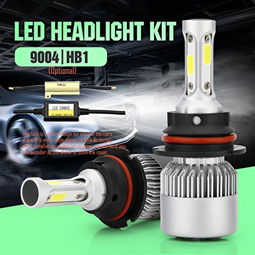 Wiseshine 9004 hb1 6000K 72W LED Headlight Bulbs All-in-One Conversion Kit 7200 Lumen Cool White