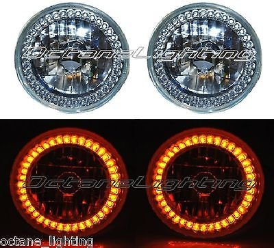 OCTANE LIGHTING 5-34 Halogen Amber Led Ring Halo Angel Eyes Headlight Headlamp Light Bulbs Pair