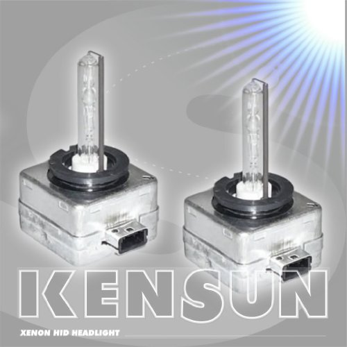 Super Bright HID Xenon Low Beam Headlight Replacement Bulb - by Kensun - Pack of one bulb - - D1S - 6000K