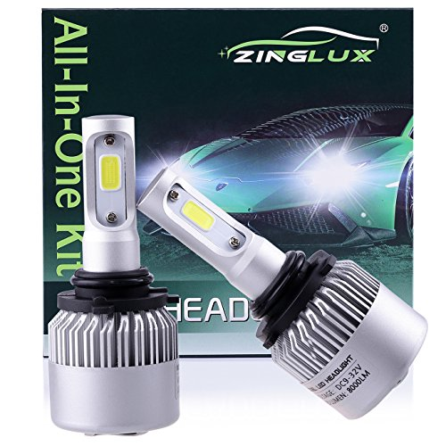 ZX2 9006 HB4 8000LM LED Low Beam Headlight Conversion KitFog Driving Lightfor Replacing Halogen Headlamp All-in-One Conversion KitsCOB Technology6500K Xenon White 1 Pair with 1 Year Warranty