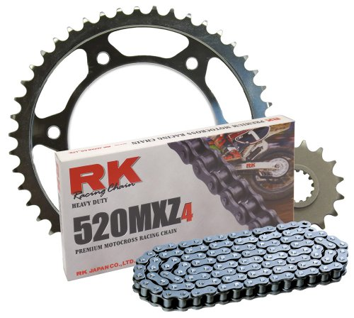 RK Racing Chain 4012-028S Steel Rear Sprocket and 520MXZ4 Chain Steel Race Kit