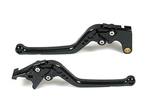 Emotion Performance-STD-Series Motorcycle Clutch Brake Lever Set for Triumph BONNEVILLE  SE  T100  Black 2006-2015 - Black  Black AdjusterLever
