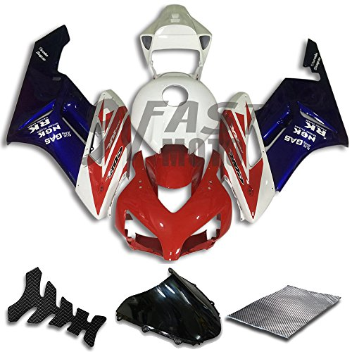 9FastMoto Fairings for honda 2004 2005 CBR1000 RR 04 05 CBR1000RR Motorcycle Fairing Kit ABS Injection Set Sportbike Cowls Panels Red Blue H0782