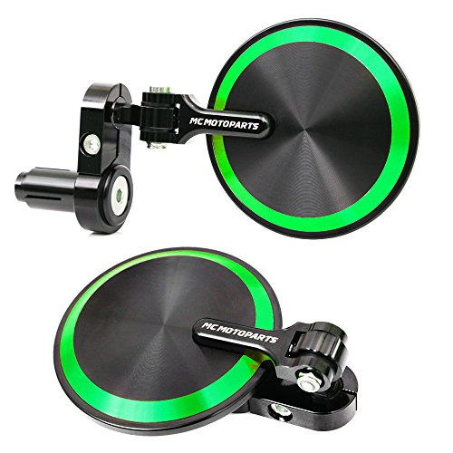 Green Reborn CNC Bar End Mirrors For Kawasaki Z650 Z900 Ninja 650R Ninja 300R 2017