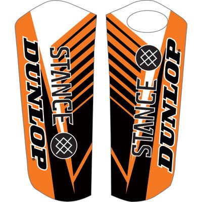 Attack Graphics Turbine Lower Fork Guard Decal Orange for KTM 250 SX 2000-2007