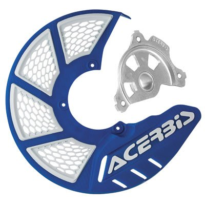 Acerbis X-Brake Vented Front Disc Cover with Mounting Kit BlueWhite for Yamaha WR450F 2011-2018