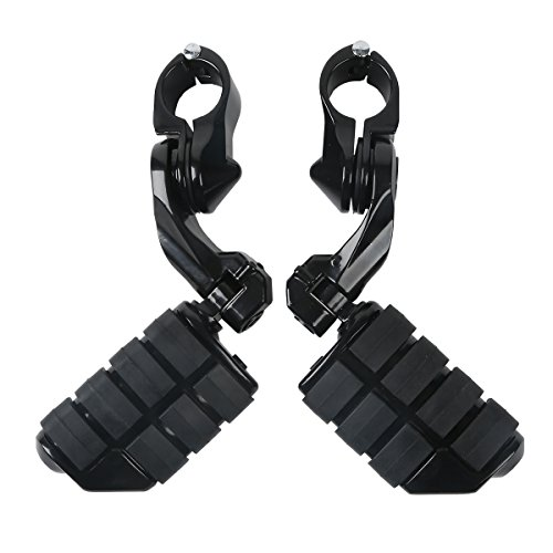 XFMT Universal Footrest Motorcycles Foot Pegs For 32mm Foot Pegs Footrests Highway Mount 360 Degree Adjustable