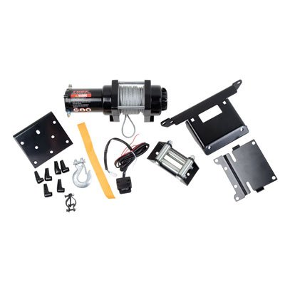 Tusk 2500 lb Winch With Mounting Plate Complete Kit- Polaris Sportsman Magnum Xpedition Xplorer Diesel