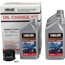 Yamaha LUB-SMBCG-KT-10 Snowmobile 4 Cyl SS Oil Change Kit LUBSMBCGKT10 Semi-Synthetic